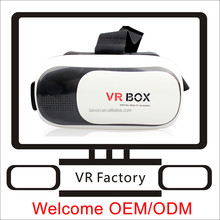 Vr box 3d glasses with game remote , hot sales 3d glasses vr box of vr box 2.0