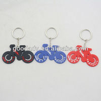 factory oem design soft rubber motorcycle keychain/keyring