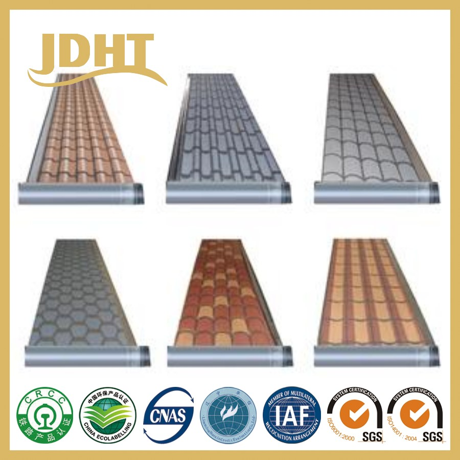 JD-254 flexible colourful roofing roll waterproof sheet
