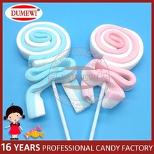 Long Marshmallow Belt Candy Twist Marshmallow Lollipop