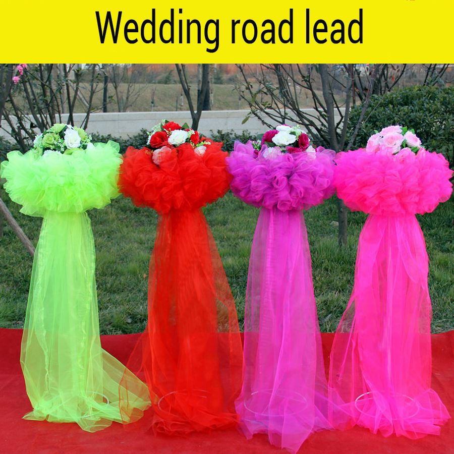 Wedding Iron road lead wedding site layout props gauze garland formwork road lead wedding accessories