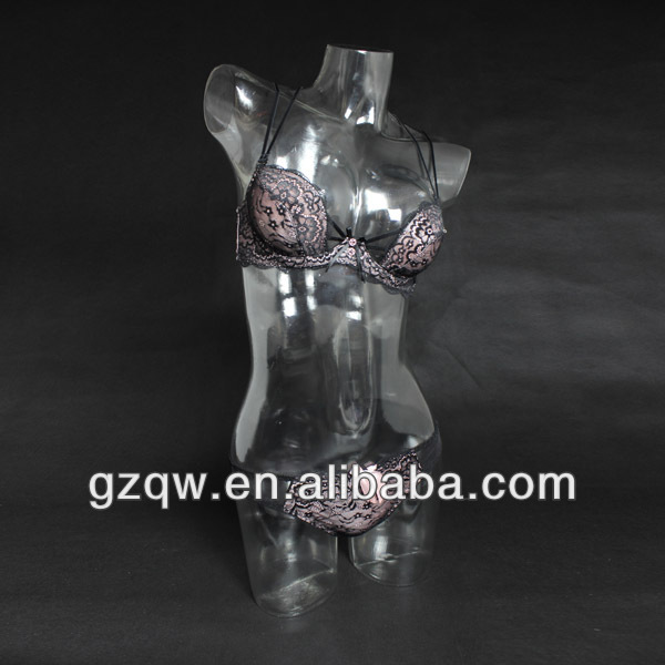 Half body female mannequin torso transparent mannequin