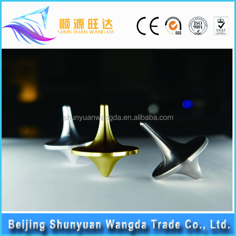 Custom logo hot selling metal top parts super spinning top toys