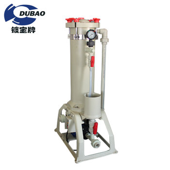 Dubao electroplating alkali chemical filter used inSurface treatment