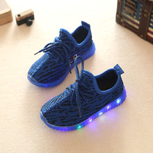 FLYKNIT Kids LED flash Shoes sport led light up kids shoes