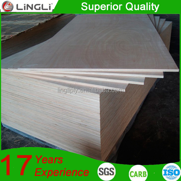 Home and interior decorative 18mm eucalyptus core furniture plywood sheets