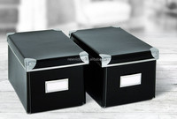Eco-friendly ALDI Storage Box with Metal Corners and Namecard Place