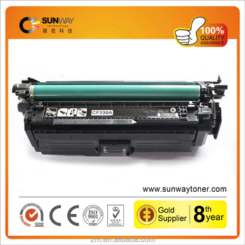 Compatible cf330x cf331a cf332a cf333a toner cartridge for HP Color LaserJet M651n M651dn M651XH printer