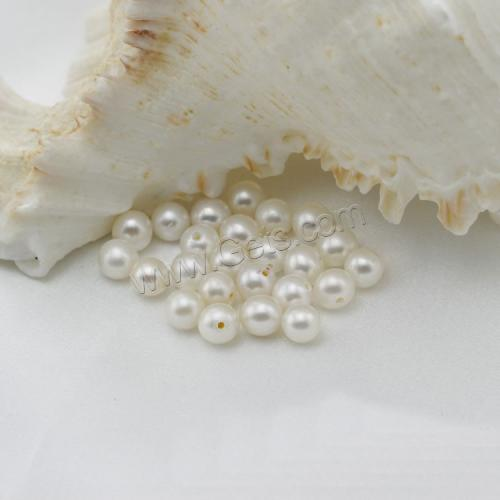5-6mm AA Half Drilled large size near round make large hole beads wholesale freshwater natural pearl price