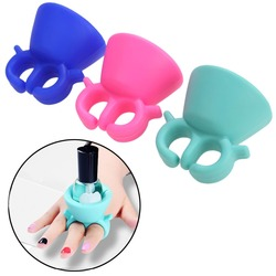 New 1PC Silicone Fleible Nial Polish Bottle Holder Wearable Fits for All Fingers