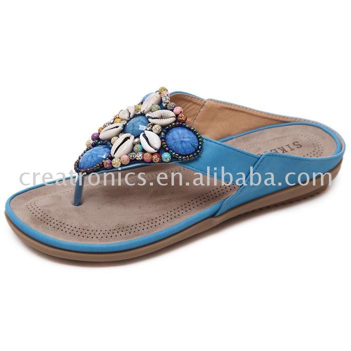 women beaded sandals