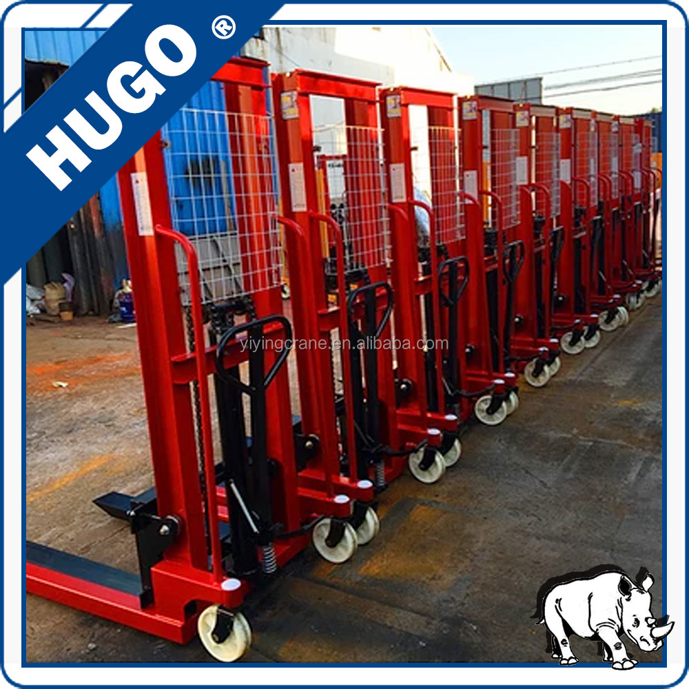 2500kg construction manual forklift stacker/ hydraulic lift pallet jack truck