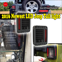 8W 240lm LED Tail Lamp White Turn Signal Running Brake Reverse Taillight for 2007+Wrangler