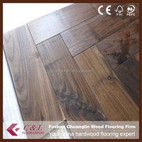 Guangzhou Factory Asian Walnut wooden floor solid color stain