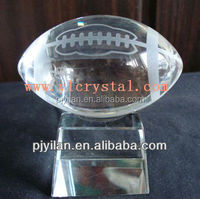 personalized elegent beautiful crystal soccer ball for souvenir gift