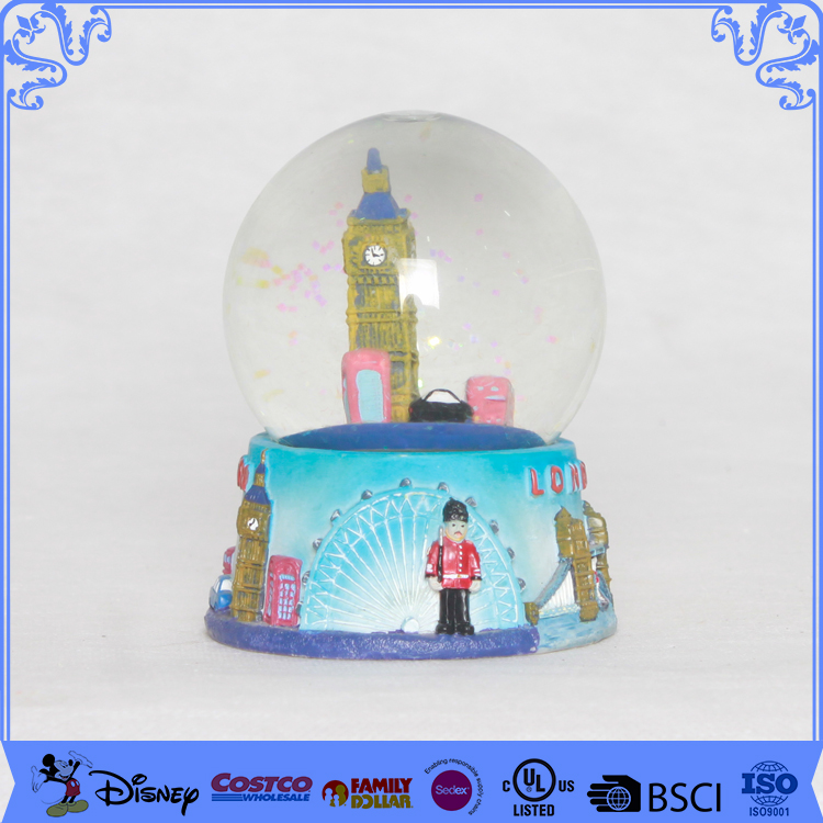 Cheap music picture insert snow globe