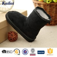 Antique soft sole leather baby hard sole walking shoes