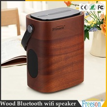 2017 most professional design portable APP huge airmusic wifi bluetooth wood speaker