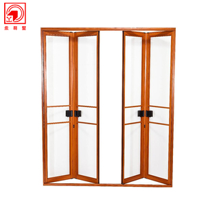 Waterproof Glaze Bi Folding Bifold Aluminum Door