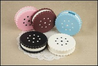 plastic cute contact lenses container,biscuit shape contact lenses container,plastic contact lenses container
