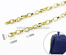 High quality jewelry Small Link Silver and Gold plated link Chain for bag accessories