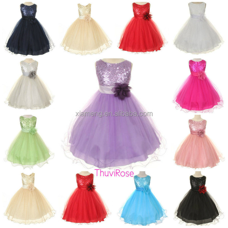 10 year old different color flower dresses