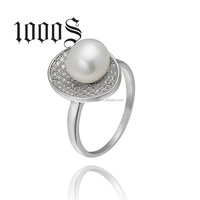 Fashion Pearl Ring 925 Sterling Silver