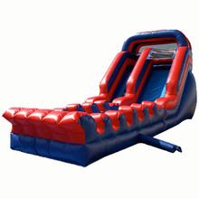 most popular Red Lava inflatable water slide/ waterslide/ wet dry slide factory price