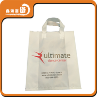 waterproof T-shirt shopping plastic bag with handle