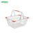 supermarket wire mesh stacking metal shopping basket