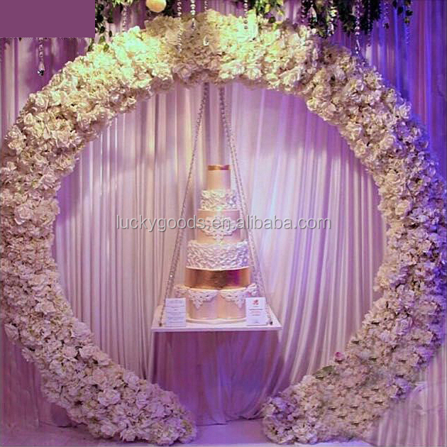 Wholesale Cream White Round Shape Wedding Metal Arch - Buy Wedding ...