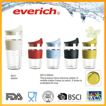 Eco-friendly Famous Brand Glass Water Bottle With Silicone Sleeve