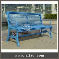 Arlau High Backed Outdoor Metal Resting Bench,Composite Metal Models Wooden Bench,Garden Sitting Bench