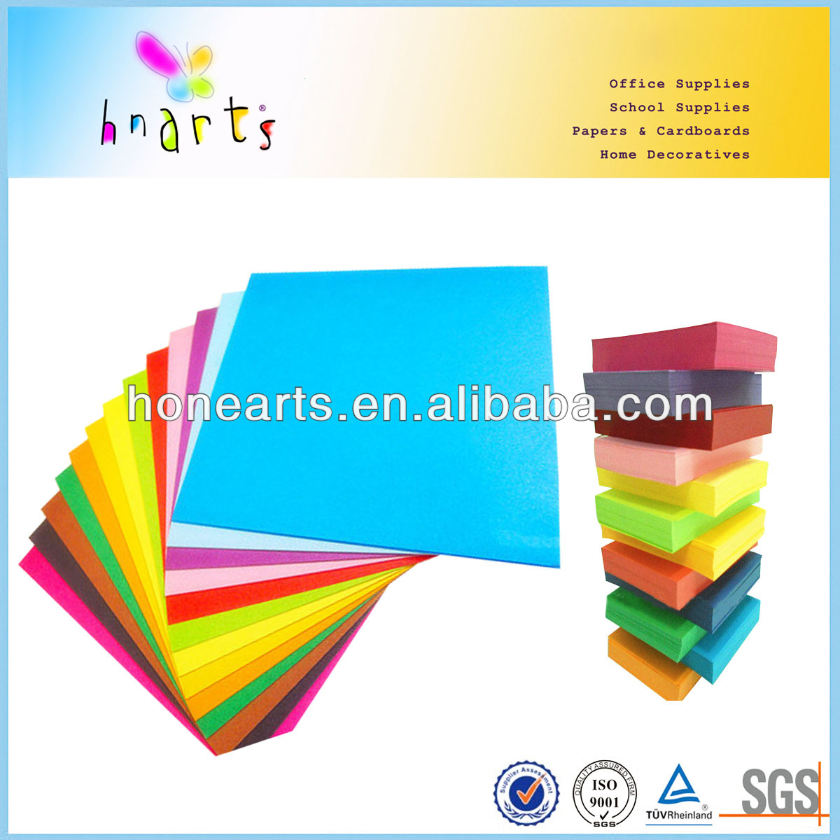 light color blank folded paper cards/colorful 80gsm blank folded paper cards