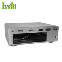cheap mini itx gaming desktop pc chassis barebone system computer pure aluminum htpc case for home theater