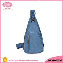 High quality canvas chest bag , sling bag for teenagers