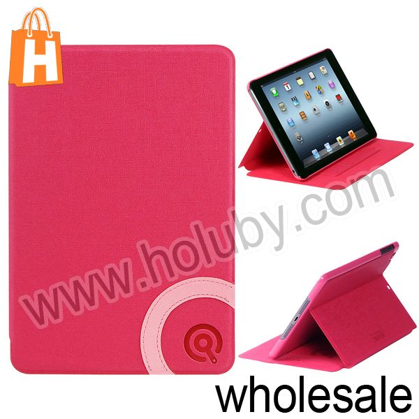 Newest DiscoveryBuy Card Slots Stand Flip Leather Case for iPad Mini 3 Flip Cover