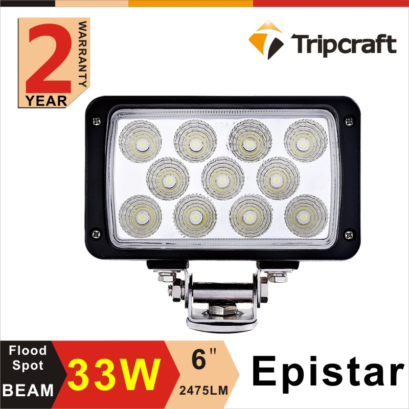 "Made in China Automotive Parts 6"" 4X4 Offroad Work Light 33W LED Tractor Worklight"