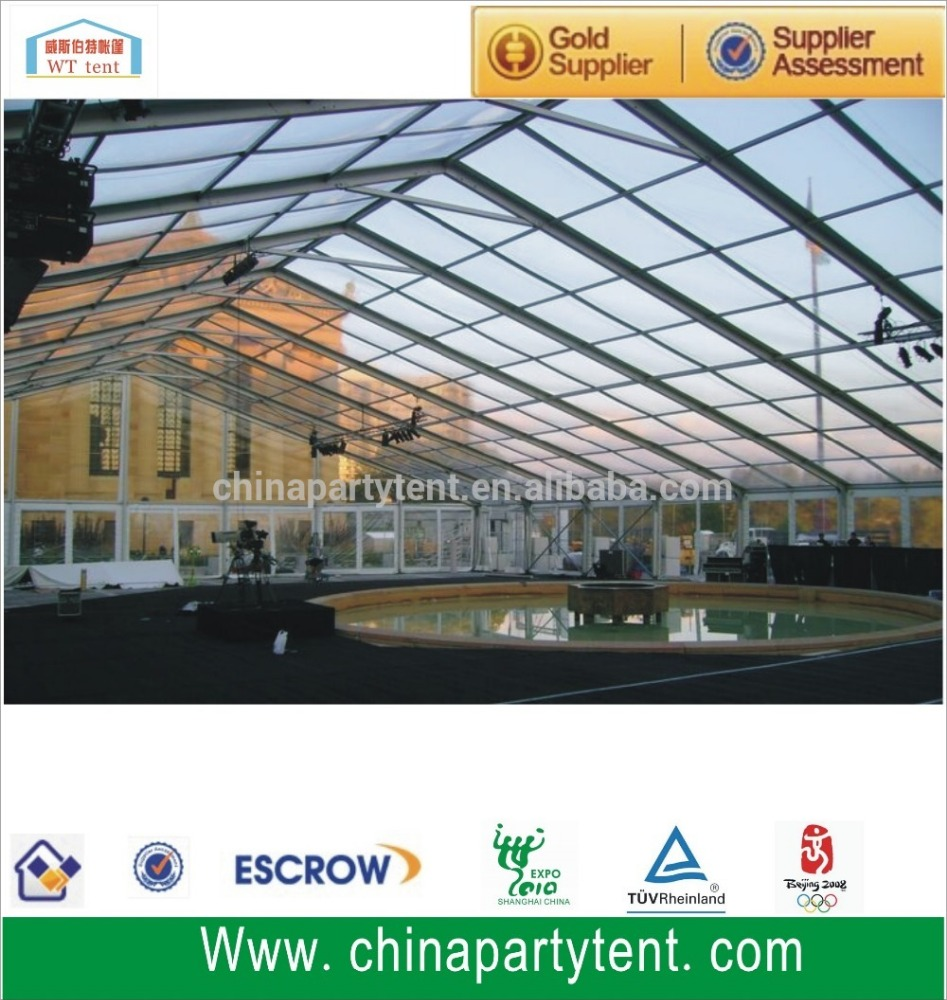 Cheap clear roof marquee transparent wedding party tent for sale