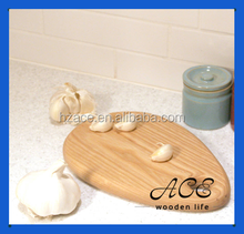 Wooden Serving Board Drop Water Shape White Oak Cutting Board for Kids