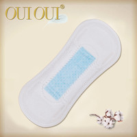Super absorbent 160mm wingless negative ions panty liners for women