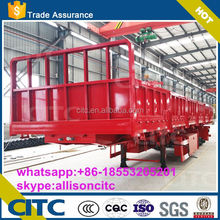 side wall detachable for cargo bulk goods transportation semi trailer to Africa