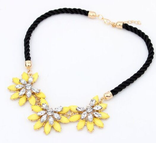 2016 RetroSunflower Decoration Cotton Rope Choker Necklace For Women Charming For Wedding Perfect Party Rope Necklace