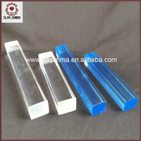 Home Decoration Colored Square Acrylic Bar, Square Twisted Acrylic Rod