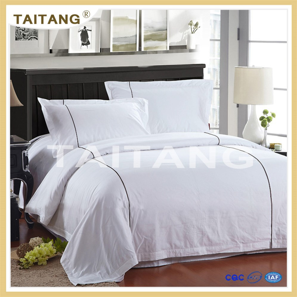 Hot sale pure white cotton bedding comforter 3d cotton bedding set