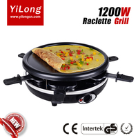 electric bbq round teppanyaki steak party table raclette grill