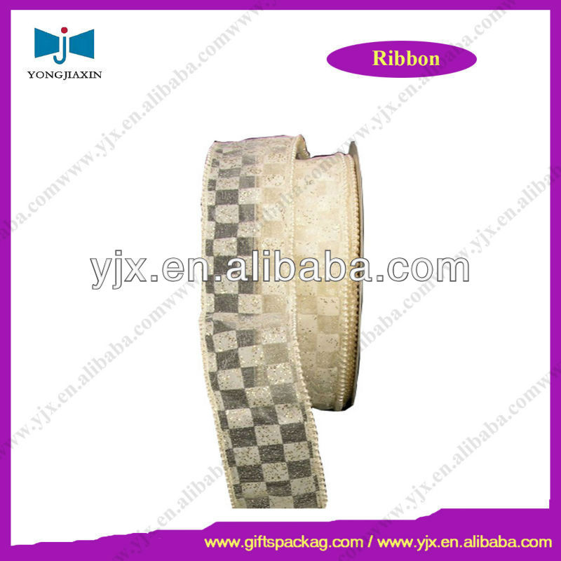 sheer organza ribbon customized woven edge for gift wrpping
