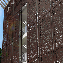 Decorative Aluminium Perforated Wall Cladding Facade Panel