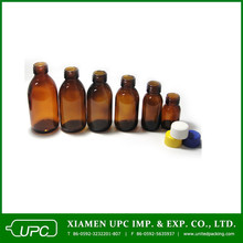 100ml amber glass bottle used for oral liquid medcine in stock