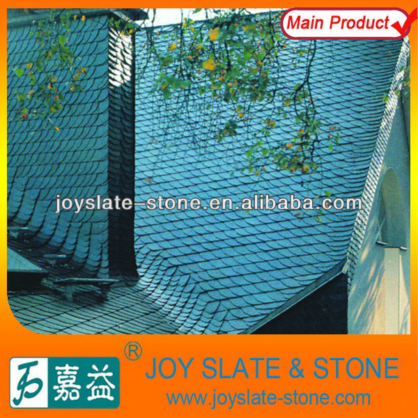 Natural Slate Green Roofing Tile,U Shape Roof Slate,Spanish Tiles